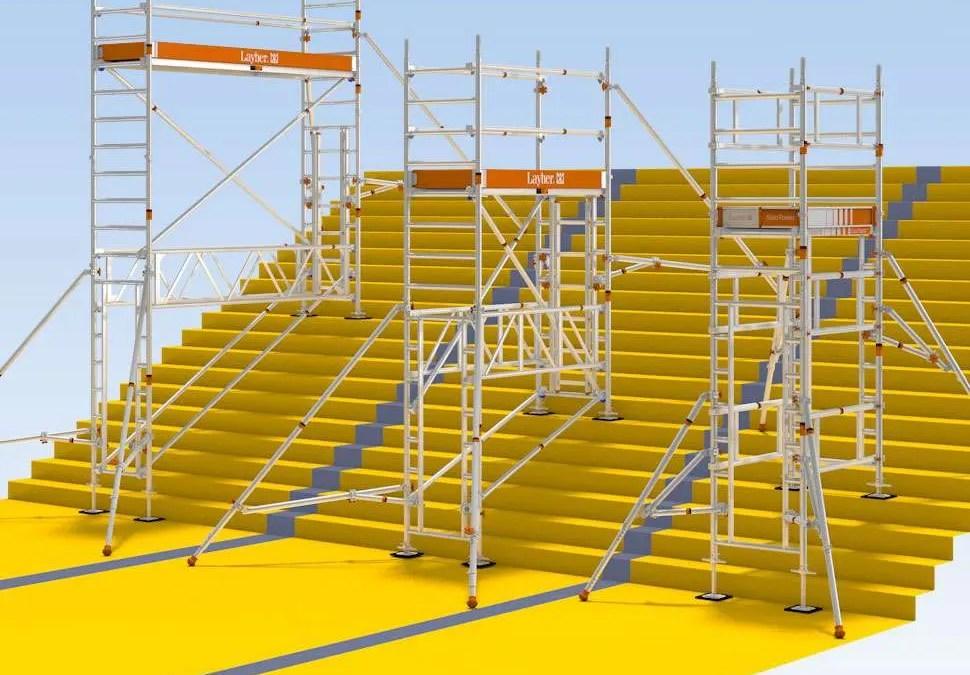 Torres móviles para escaleras