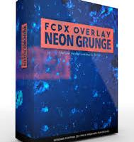 Pixel film studios fcpx overlay neon grunge for fcpx icon