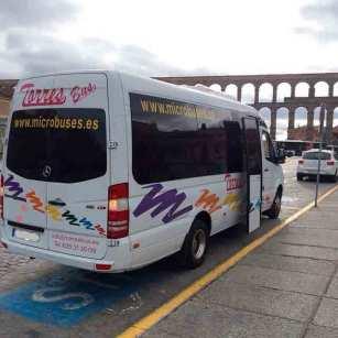 minibus închiriere minibus în madrid toledo segovia avila