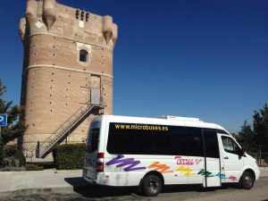 pullman mini bus per addio al celibato a Madrid