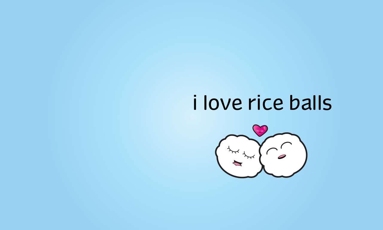 Cute Tofu Desktop Wallpaper I Love Rice Balls Tortagialla