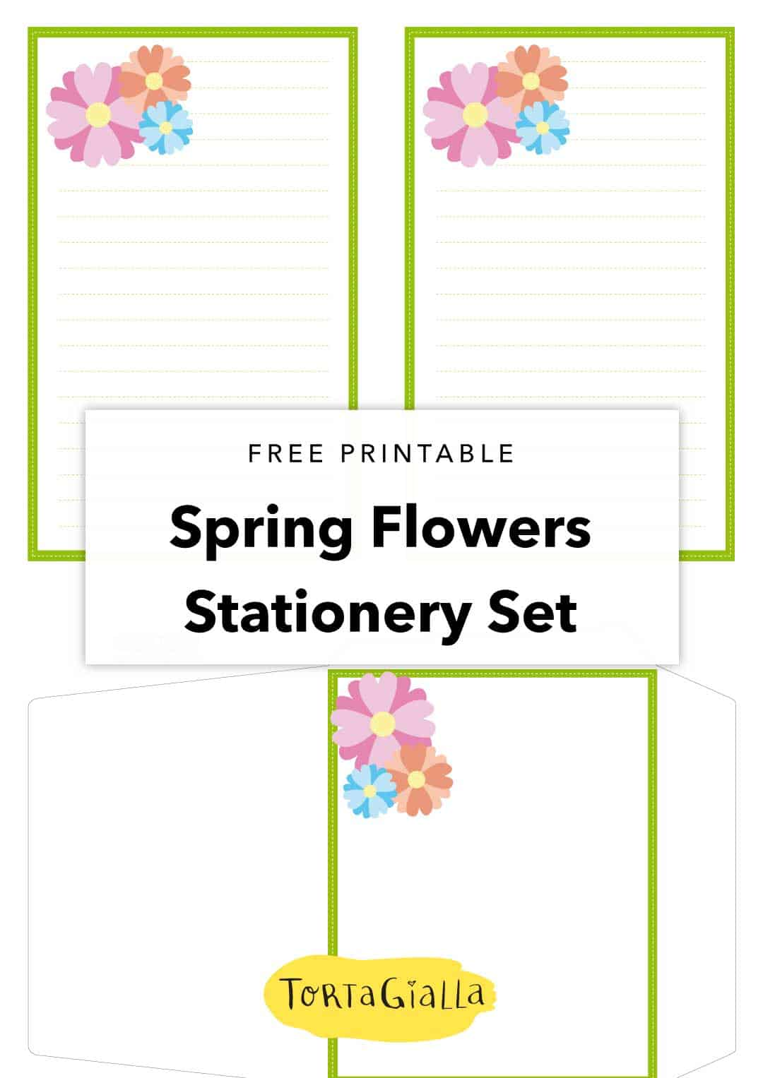 Spring Flowers Stationery Set
