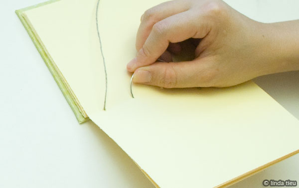 Repeat steps to keep sewing your book together