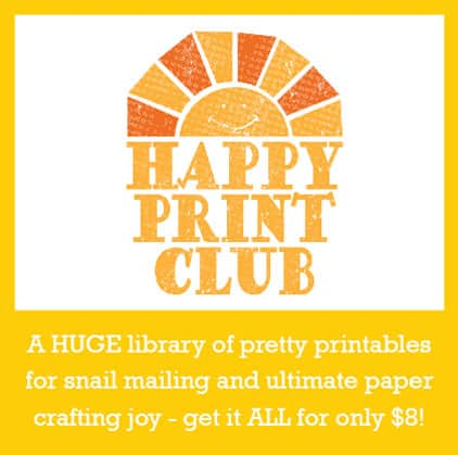 A HUGE library of pretty printables for snail mailing and ultimate paper crafting joy - get it ALL for only $8!