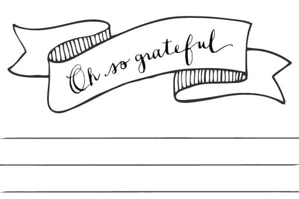 Gratitude printable stationery
