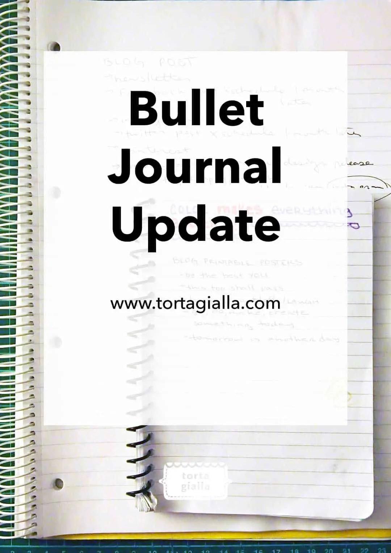 bullet journal update