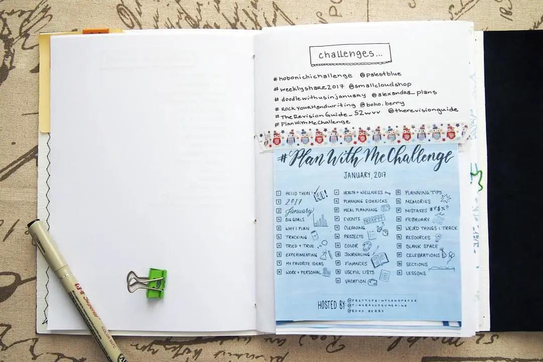 bullet journal setup - challenges