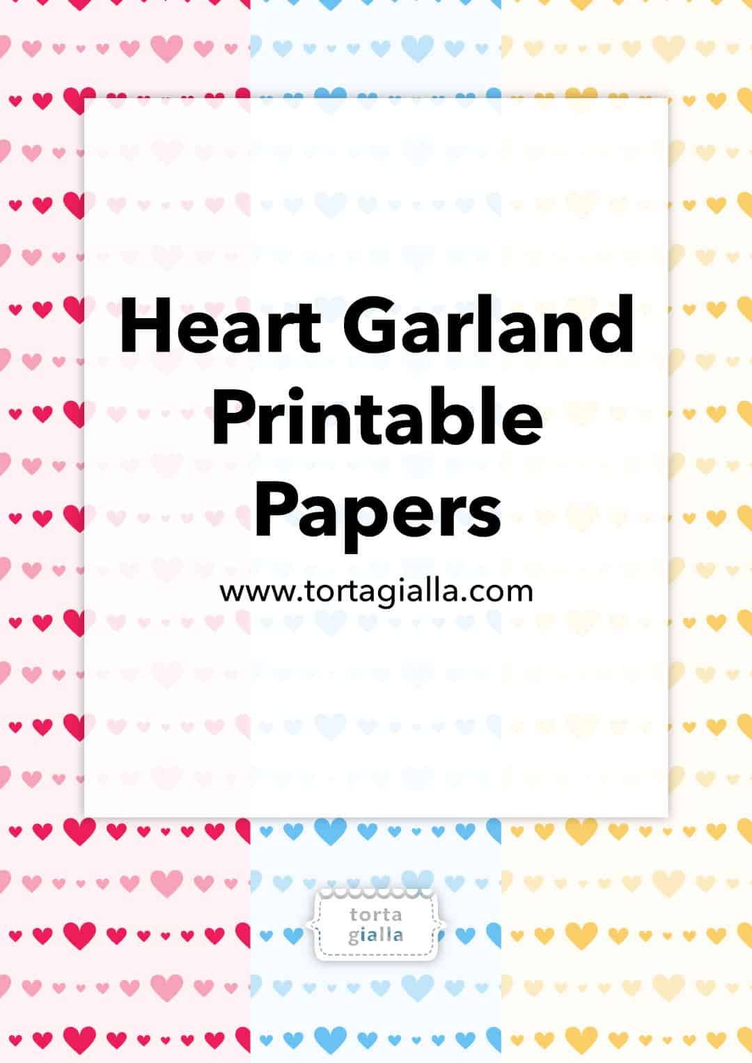 Heart Garland Printables