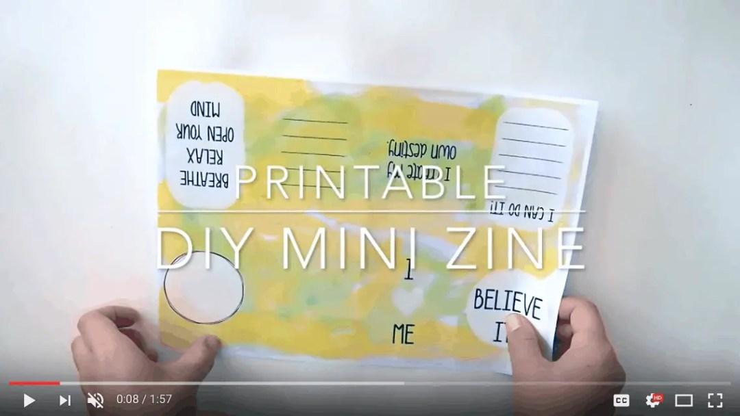 Printable DIY Mini Zine