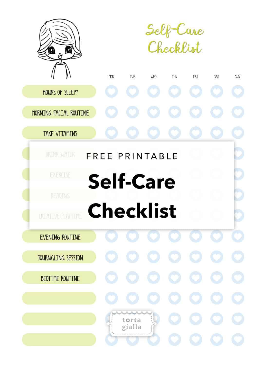Self-Care Checklist Printable For FREE Download