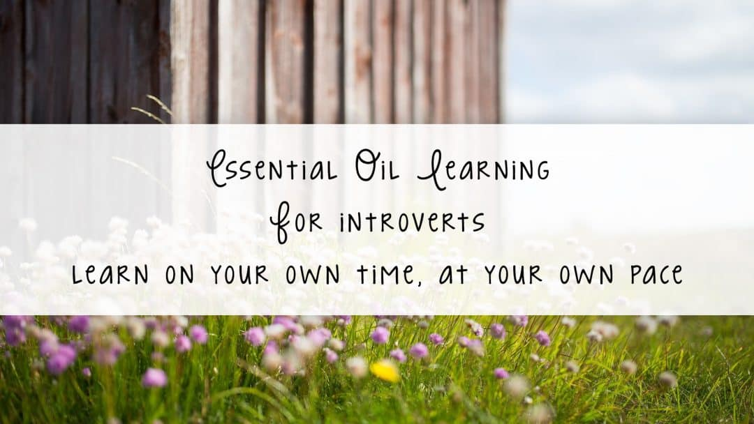 Essential oil learning for introverts. Learn on your own time, at your own pace. // https://www.tortagialla.com/essential-oils/