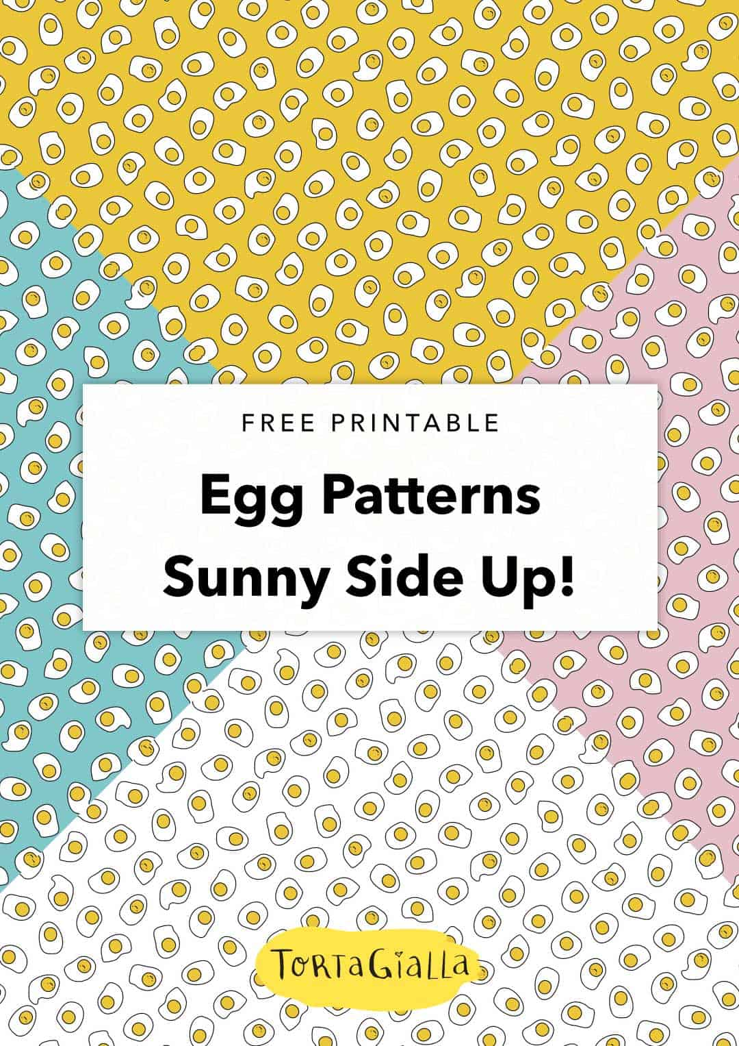 Looking for a cute scrapbook paper printable? How about this sunny side up egg design I created, super cute and bright for your papercrafting projects.