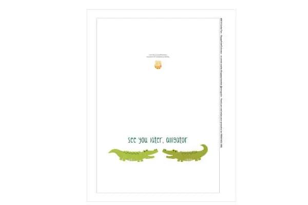 Free Printable Alligator Greeting Card