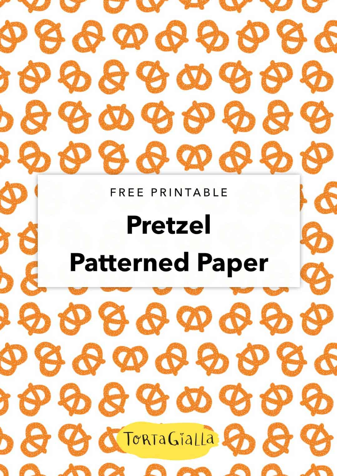 For the love of good dough and salty breads, here's a pretzel pattern paper for scrapbooking, papercrafitng and DIY projects.