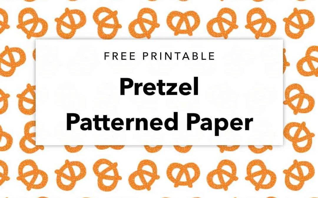 Free Printable Pretzel Patterned Paper