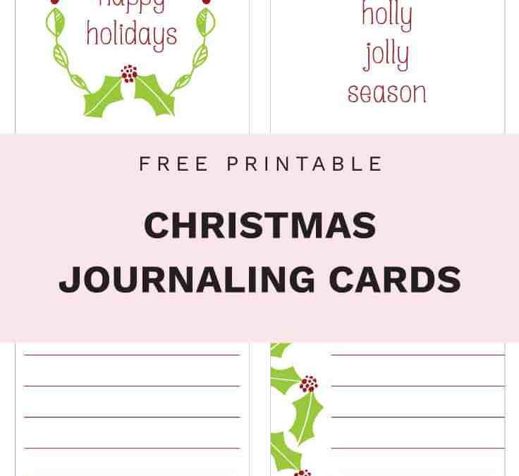 Free Printable Christmas Journaling Cards