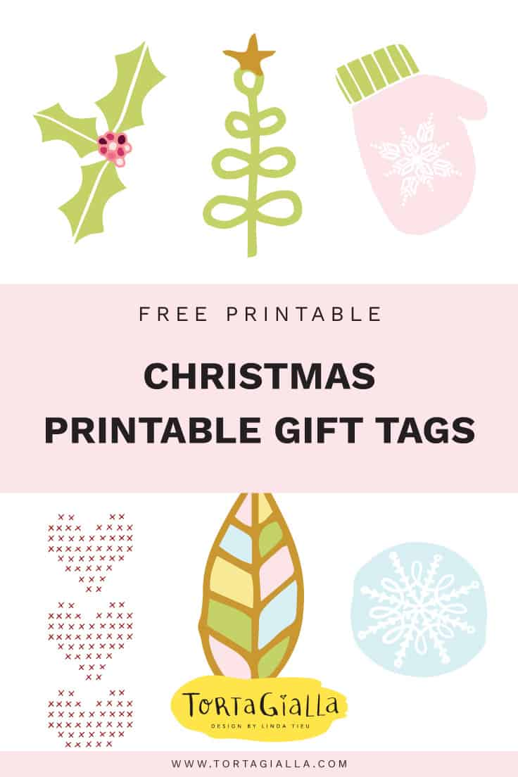 Printable gift tags for Christmas - Free printable download on tortagialla.com