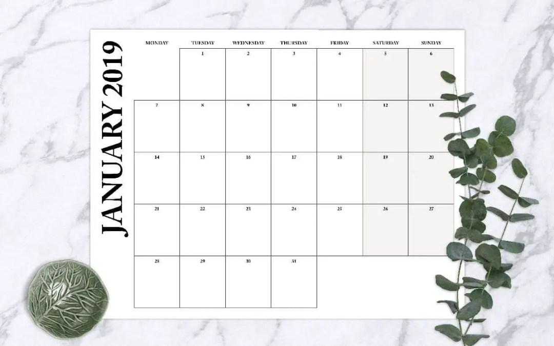 Blank Calendar Printables
