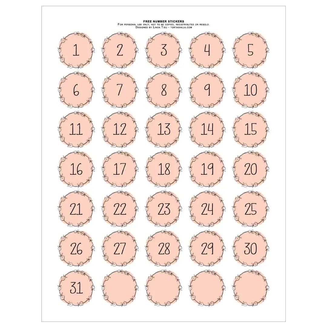 graphic regarding Printable Numbers identified as Printable Quantities - Beautiful Purple Wreath Design tortagialla