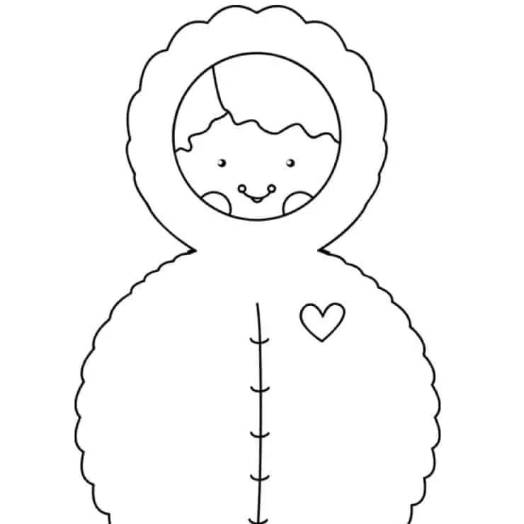 cute winter doll printables