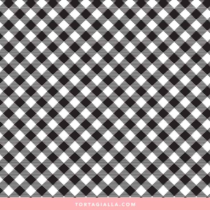 Black Gingham Paper Printable