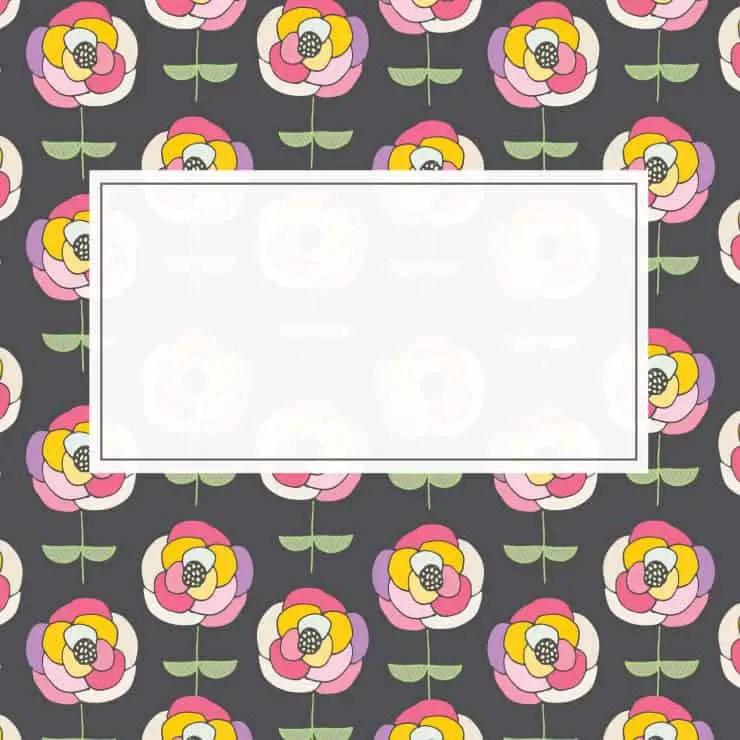 Rainbow Flower Card Printable