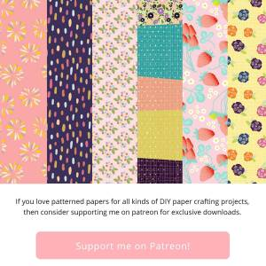 If you love patterened papers for all kinds of DIY paper crafting projects, then consider supporting me on patreon for exclusive downloads.