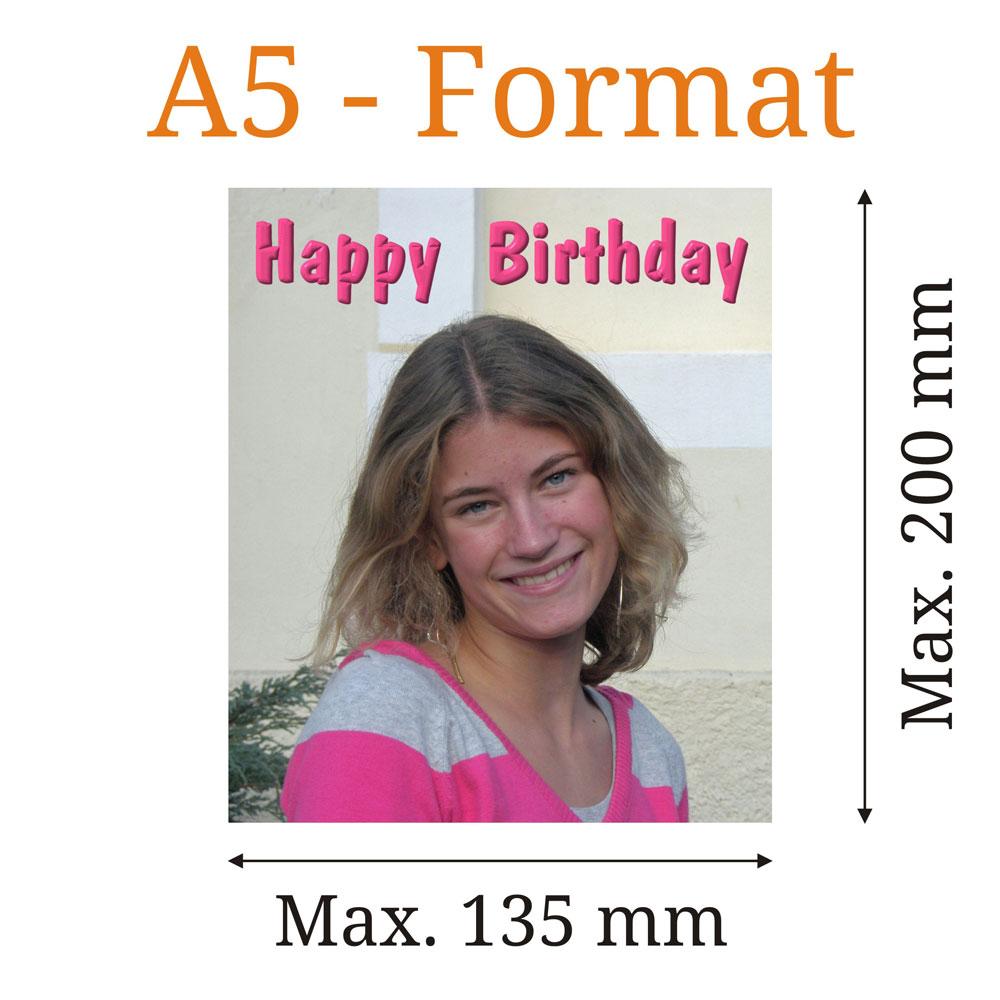 Essbares Bild eckig A5Format  tortenbilderat