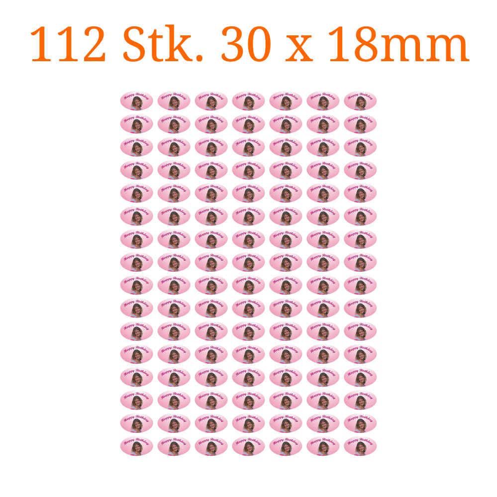 112 Stck essbare Bilder oval 30x18mm  tortenbilderat