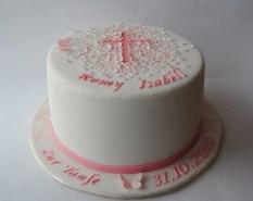 Christening Cake for Romy Isabell