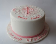 Christening Cake for Romy Isabell