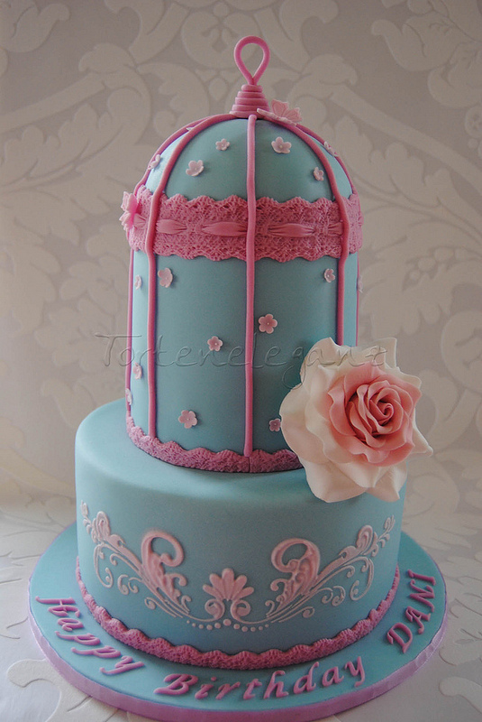 My version of a Birdcage Cake, for my friends Birthday