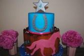 Pferdetorte zum Geburtstag für meine Tochter Pia mit Stern und einem Huf