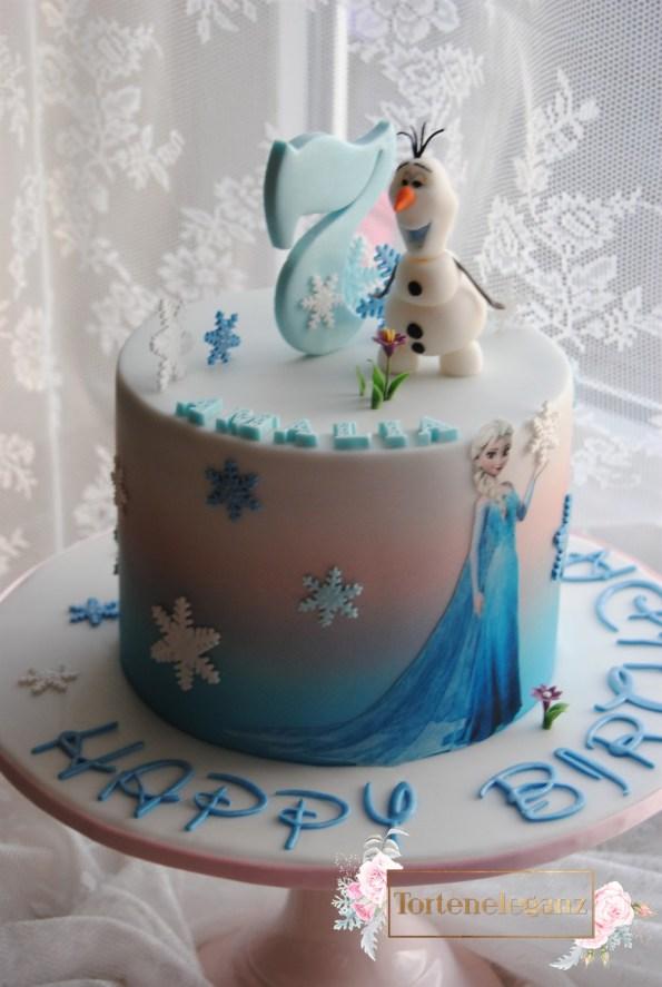 Olaf Torte die Eiskönigin zum Kindergeburtstag