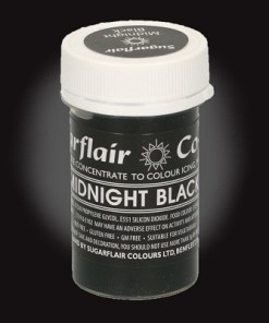 sugarflair pastenfarbe dose midnight black 25 g