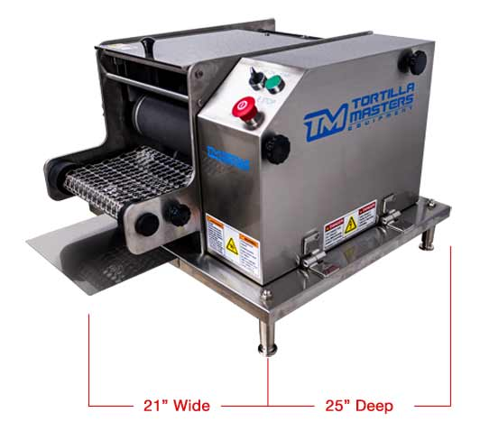 Corn Tortilla Machine - Tabletop Corn Tortilla Maker by Tortilla Masters Equipment