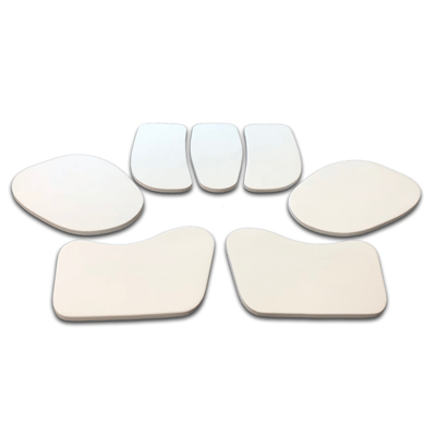 "seven piece impact protection add-on pad set with 1/4"" thick pads"