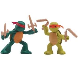 Figurine Ninjas in training Raph et Mikey 2014