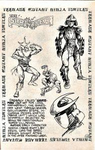 Shredder Concept Art Mirage 1984 Peter Laird Eastman