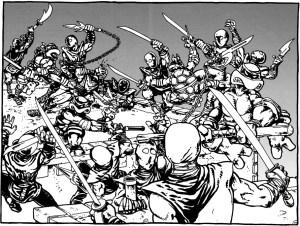 Tortues VS Foot Soldier Comics Mirage