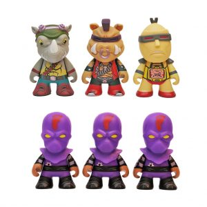 3'' Vinyl Figure set 6 bad guys Kidrobot 2014
