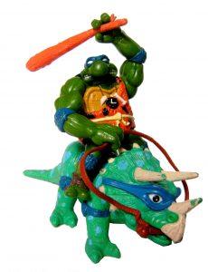 Figurine Cave Turtle Leo and his Dingy Dino 1992 Tortues Ninja TMNT