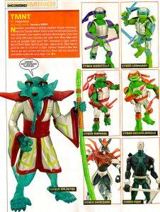 Catalogue ToyFare 2009 Cyber Foot Cyber Shredder Cyber Tortues Cyber Splinter Tortues Ninja TMNT