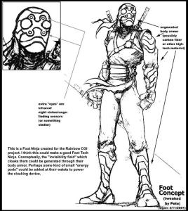 Concept Art Foot Soldier Teenage Mutant Ninja Turtles Ninja Foot Tech Peter Laird Rainbow Studios 2001 Tortues Ninja TMNT