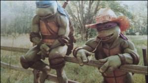 Film Tortues Ninja TMNT 1990 Scène coupée Entrainement Donatello Leonardo