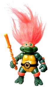 Figurine Turtle Troll Mike 1993 Tortues Ninja Turtles TMNT
