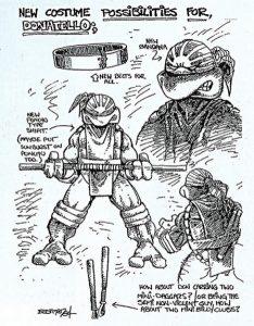 Donatello Rise of the sun Eastman 1984 concept art