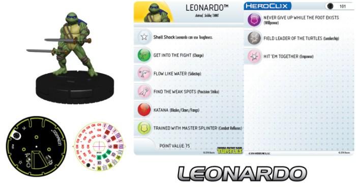 Figurine Mouser Mayhem HeroClix Leonardo 2016 Tortues Ninja Turtles TMNT