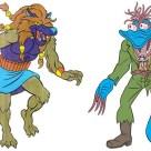 Dreadmon et Wyrm (bleu)