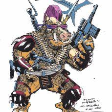 Concept Art Bebop McCarthy mai 1987 Tortues Ninja Turtles TMNT_1